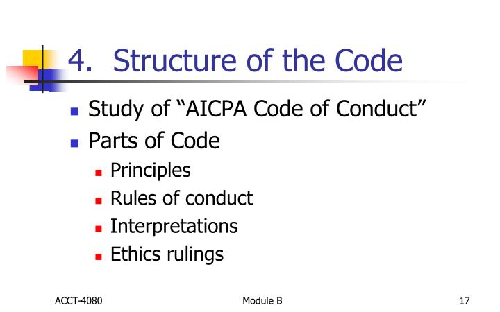 4.  Structure of the Code