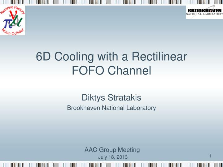 6d cooling with a rectilinear fofo channel n.