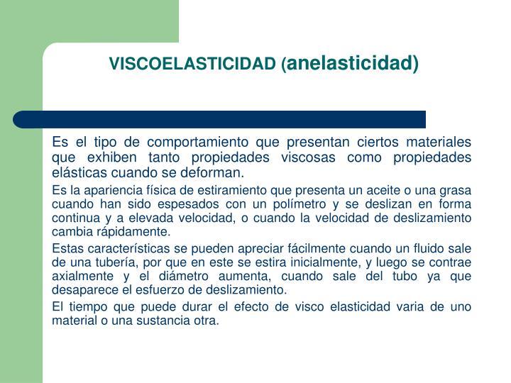 VISCOELASTICIDAD (