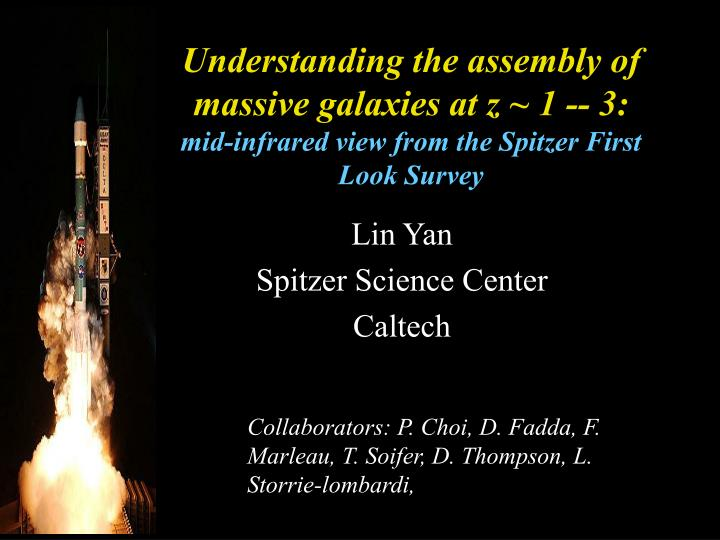 Understanding the assembly of massive galaxies at z ~ 1 -- 3: