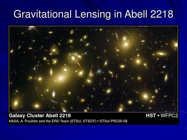 Gravitational Lensing in Abell 2218