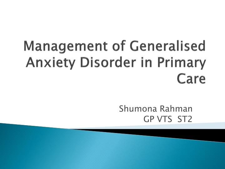 interpersonal behaviour therapy for generalized anxiety Systematic desensitization: this method of behavior therapy is specifically used for overcoming anxiety disorders including specific phobiasfirst, patients are taught relaxation techniques to use during the course of treatment then, they gradually work towards confronting the fear.