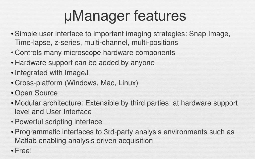 PPT - Digital microscopy: Image detectors and software control