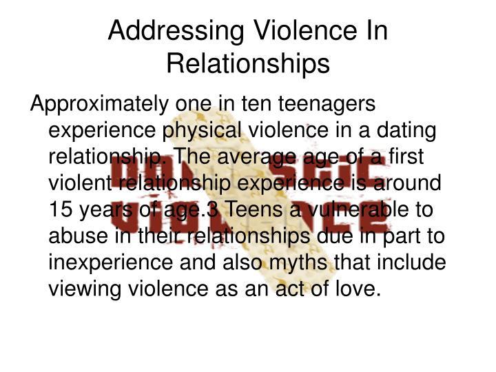 Addressing Violence In Relationships