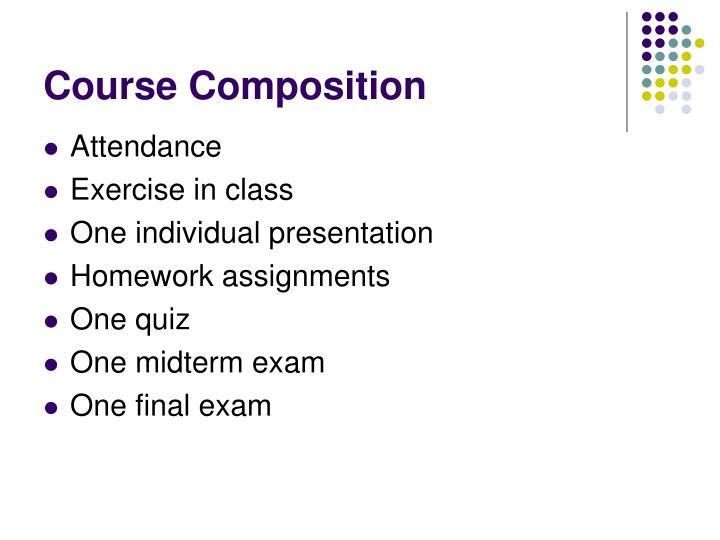 Course Composition