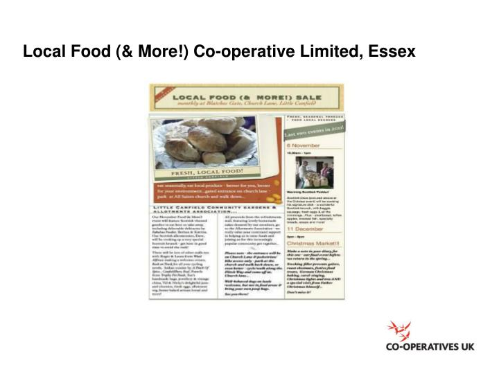 Local Food (& More!) Co-operative Limited, Essex