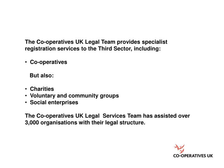 The Co-operatives UK Legal Team