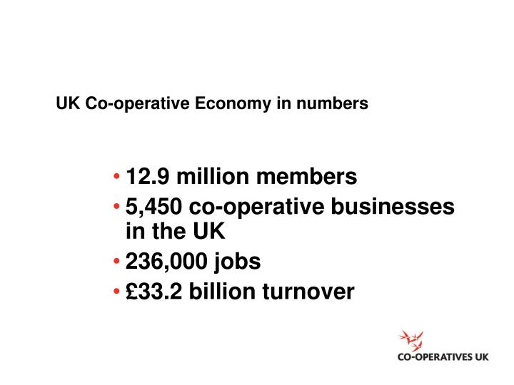 UK Co-operative Economy in numbers