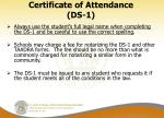 certificate of attendance ds 11