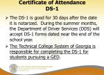 certificate of attendance ds 12