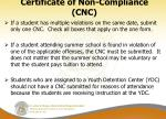 certificate of non compliance cnc