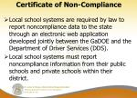 certificate of non compliance1