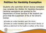 petition for hardship exemption