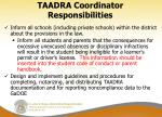 taadra coordinator responsibilities