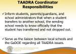 taadra coordinator responsibilities2