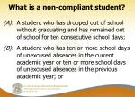 what is a non compliant student
