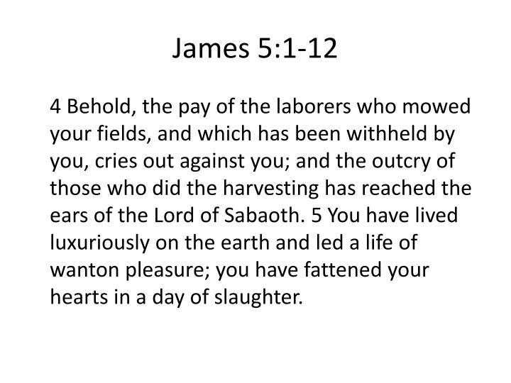 James 5:1-12