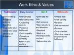 work ethic values