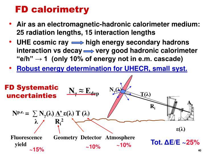 FD calorimetry