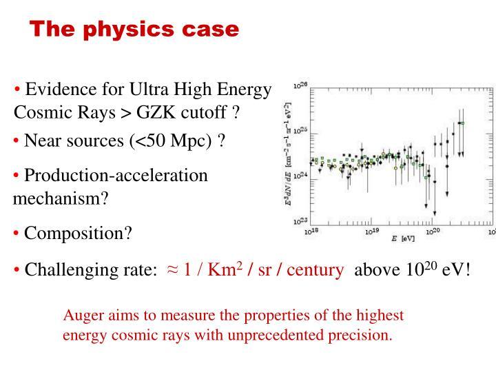 The physics case