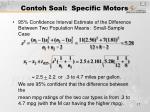 contoh soal specific motors