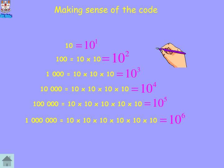 Making sense of the code