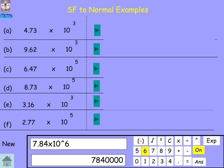 SF to Normal Examples