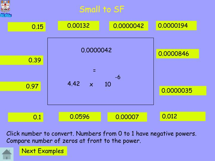 Small to SF