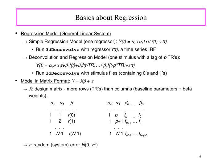 Basics about Regression