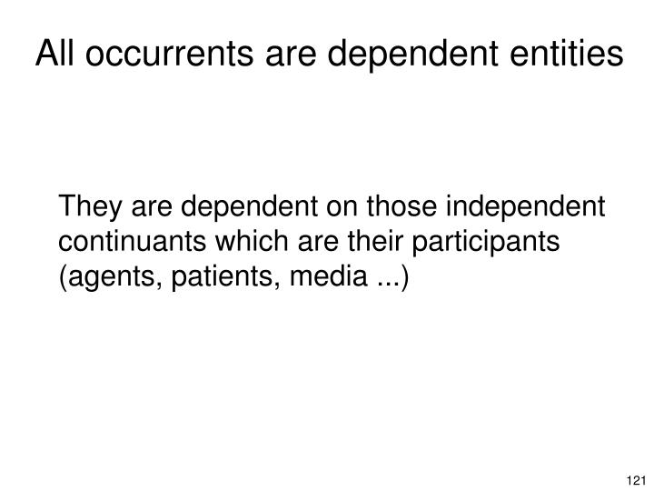 All occurrents are dependent entities