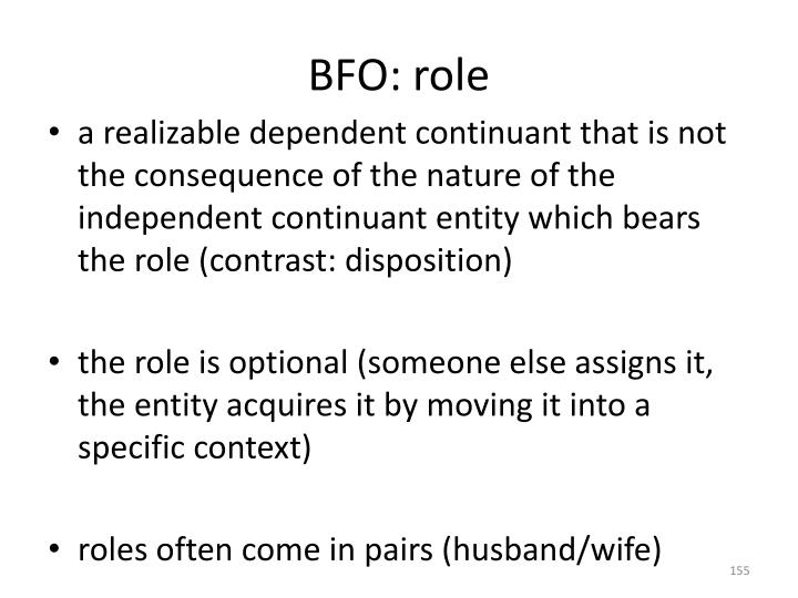 BFO: role