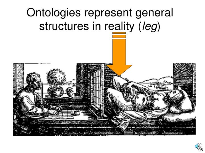 Ontologies represent general structures in reality (