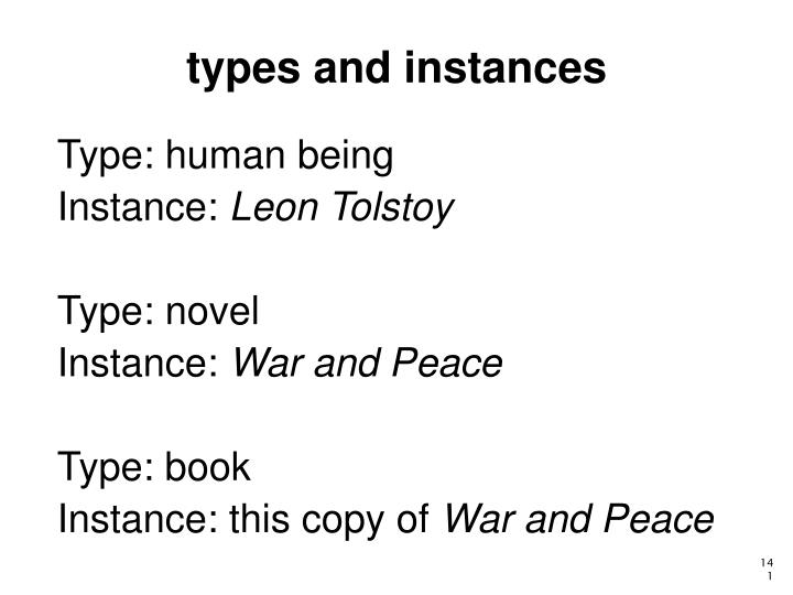 types and instances