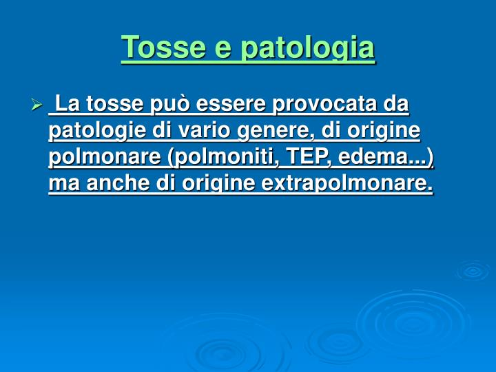 Tosse e patologia