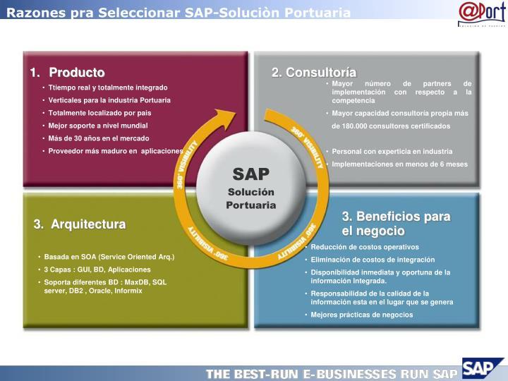 Razones pra Seleccionar SAP-Soluciòn Portuaria
