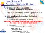 how it works security authentification