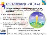 lhc computing grid lcg