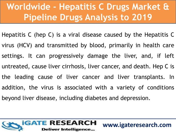 Worldwide - Hepatitis C Drugs Market & Pipeline Drugs Analysis to