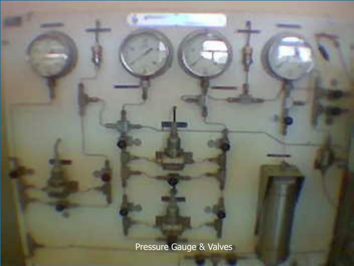 Pressure Gauge & Valves