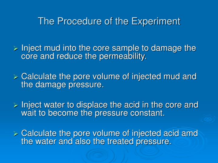 The Procedure of the Experiment