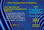 time varying fourier analysis