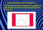 time varying fourier analysis2