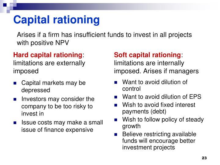 Soft and hard capital rationing