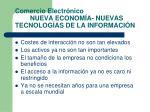 comercio electr nico nueva econom a nuevas tecnolog as de la informaci n