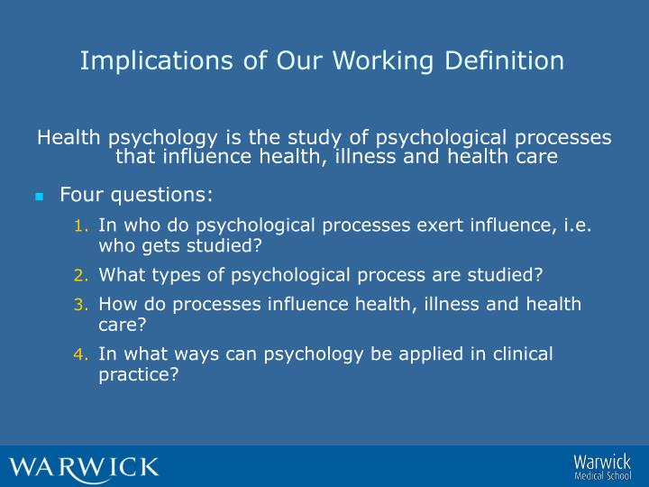 Implications of Our Working Definition