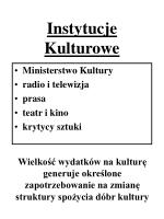 instytucje kulturowe