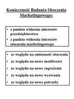 konieczno badania otoczenia marketingowego