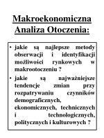 makroekonomiczna analiza otoczenia