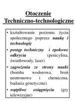 otoczenie techniczno technologiczne