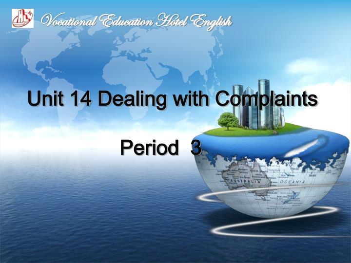 dealing with complaints Dealing with complaints tutorial is the fifth part of telephone communication skills e-learning dealing with complaints (version 101) has a file size of 2412 mb and is available for download.